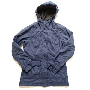 North Face Hy-Vent Navy Blue Hooded Rain Coat